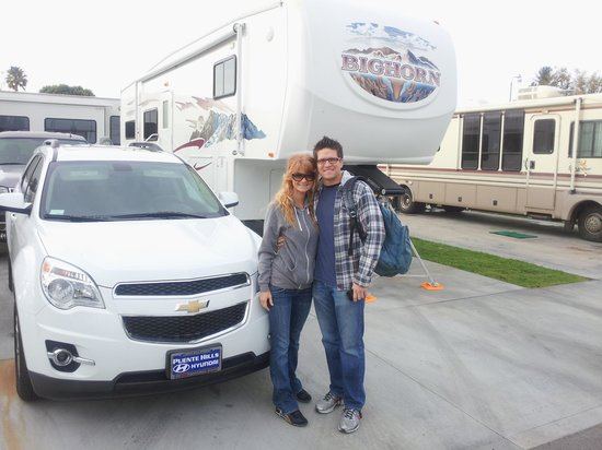 Anaheim RV Park: My Son visted and was able to park on our site