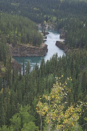 Miles Canyon: from the viewpoint just outside whitehorse