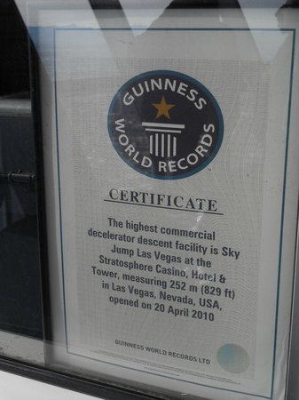 SkyJump Las Vegas : A record holder