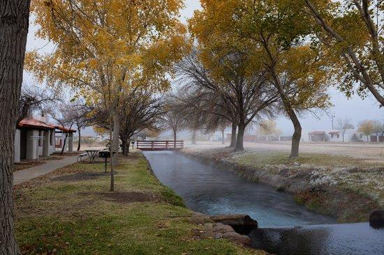 Balmorhea State Park: spring running thru the park