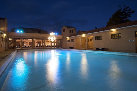 Blue Baths: Juvenile Pool by Night