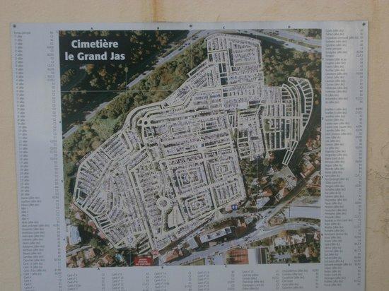 Cimetière du Grand Jas: Pianta del cimitero