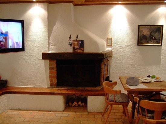 Hotel Zur Tenne: 部屋の暖炉