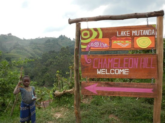 Chameleon Hill Lodge Bwindi: Sign post for the place