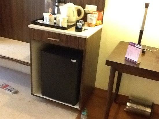 Minerva Grand Banjara : mini fridge and complementry beverage