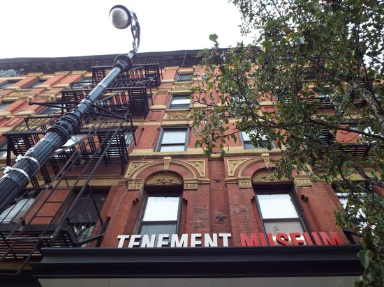 Tenement Museum: Though the museum is in the middle of the block, you have to walk to the corner to buy tour tick