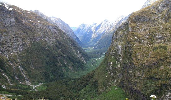 Ultimate Hikes Guided Walks : Looking down to Arthur River valley from McKinnon's Pass