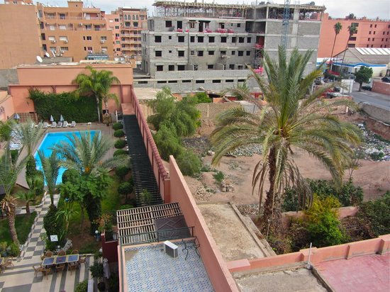 Diwane Hotel : view from room over pool (and adjacent development site)