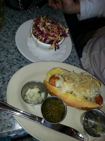 Dini's By The Sea: Dini Dog (unique and very good coleslaw)