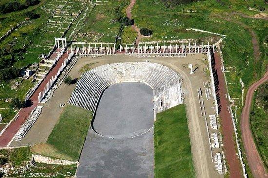 Messini, Grekland: Το στάδιο.