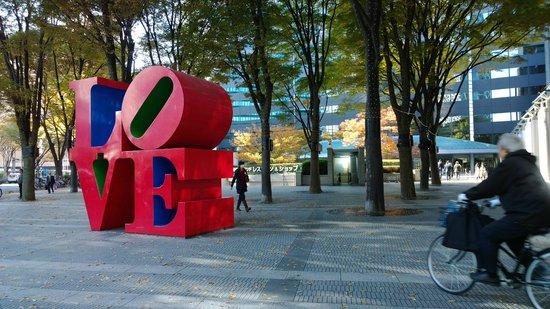 Shinjuku I Land: Symbolic of LOVE at I Land