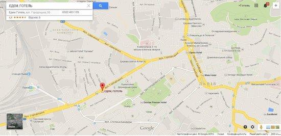 Hotel Edem: Map