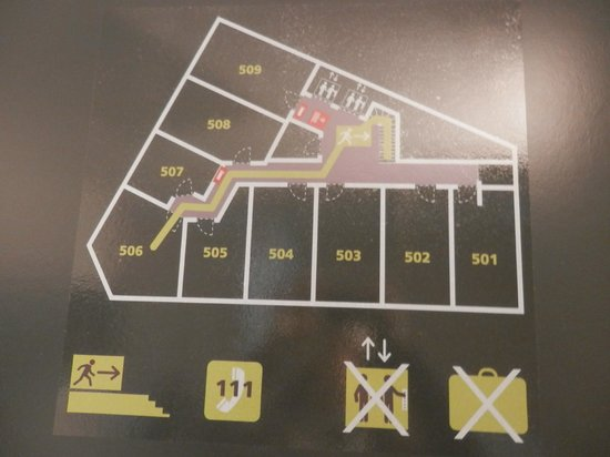 Maxhotel : Plano de las habitaciones. La 506 muy amplia