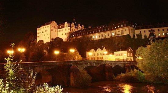 Schlosshotel Weilburg: Schlosshotel bei Nacht