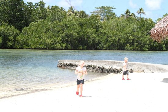 Cocomo Resort : Great beach area for the kids to play at