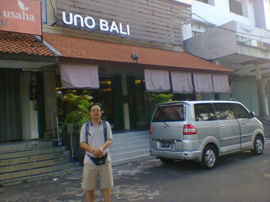 At the front of Uno Bali Inn