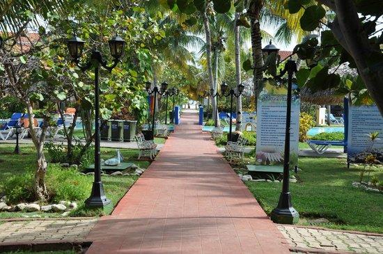 Brisas Trinidad del Mar: дорожка черех бассейн к морю
