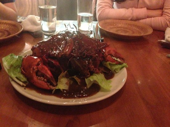 C's Steak and Seafood Restaurant: crab with black pepper sauce