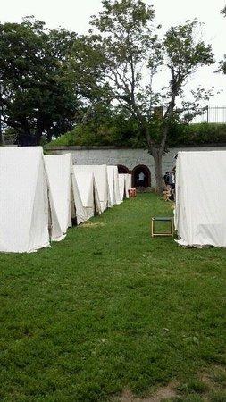 Fort Sewall : Glovers Marblehead encampment July 2013