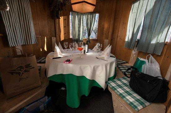 Saxifraga Kurhaus: Chalet dove abbiamo pranzato, una chicca!