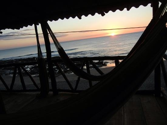 Surf Tours Nicaragua: sunset from a hammock on the deck! great end to a long day of surfing.