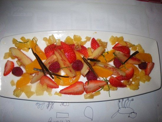 Bistrot L Ancienne Auberge 1900 : dessert exquis pour notre fils