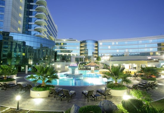 Swimming pool picture of millennium airport hotel dubai for Tripadvisor dubai hotels