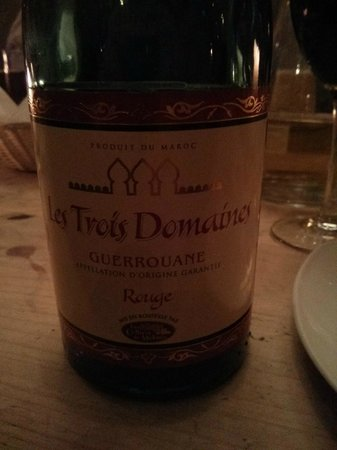 A wine from Morocco at Maison Bleue