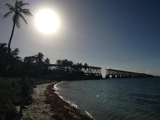 Bahia Honda State Park and Beach: View of the old bridge