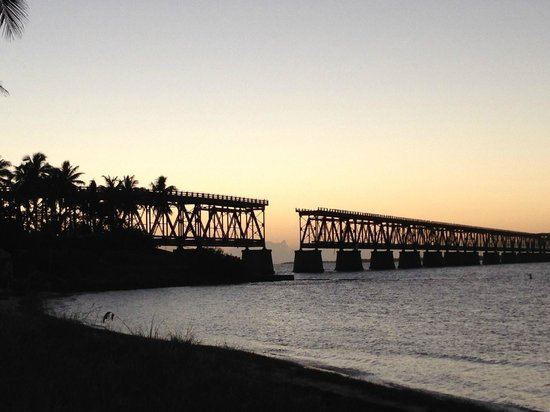 Bahia Honda State Park and Beach: Sunset and the old rail road