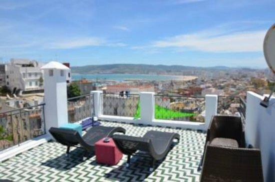 Tanger Chez Habitant: vue du solarium