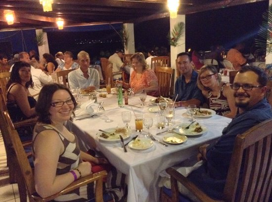 Negril Tree House Resort : Guest enjoying complementary Thanks Giving Meals 2013