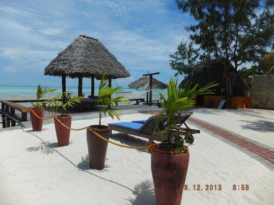 Mnarani Beach Cottages Private Area Mahaba Honeymoon Cottage
