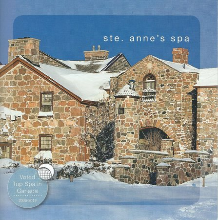 Ste. Anne's Spa: Cover of their brochure