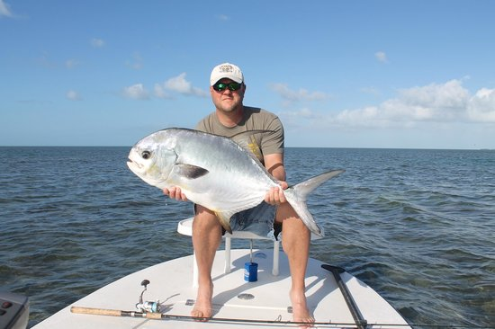 AWS Charters, Key West Flats Fishing: Permit caught 12/8/13