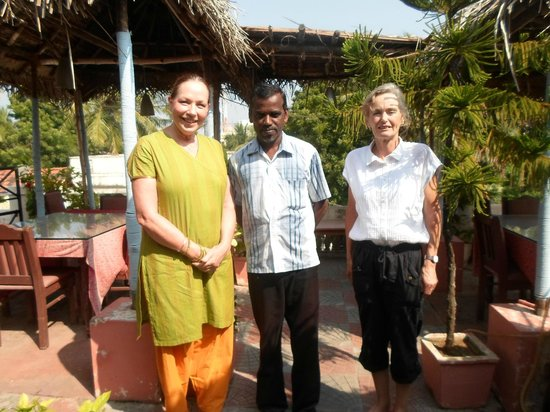 Hotel Ramakrishna : On the roof Dining Terrace with Mr Sekhar