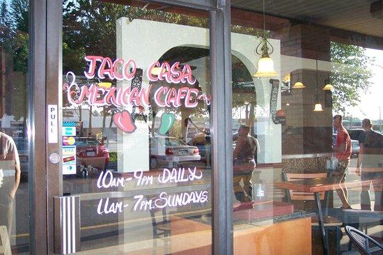 Taco Casa: Our entrance