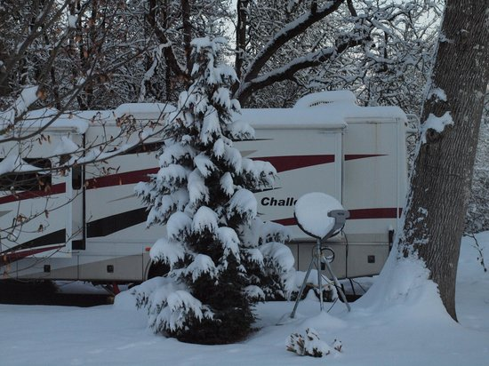 Deerwood RV Park: Winter Wonderland