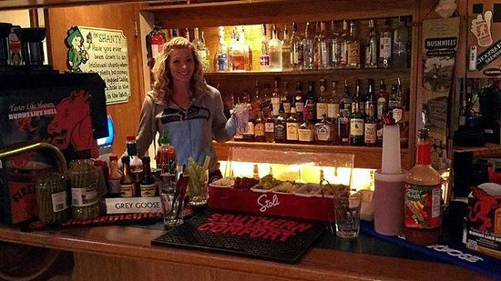 Our Bar Tender Brittany has been working here a really long time!