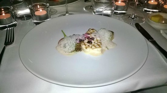 Ravintola Savoy : Grilled codfish with olive foam etc...