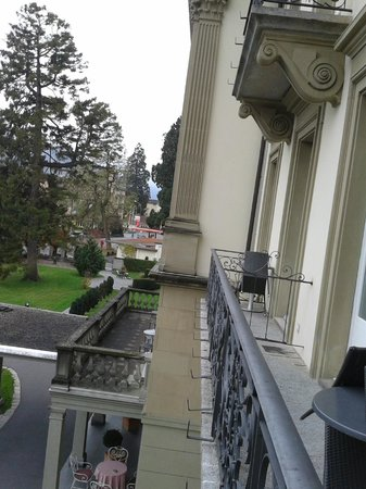 Lindner Grand Hotel Beau Rivage: vue du balcon de chambre