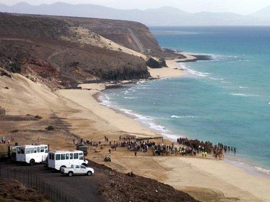Fuerteventura Princess: movie-making at Mal Nombre beach