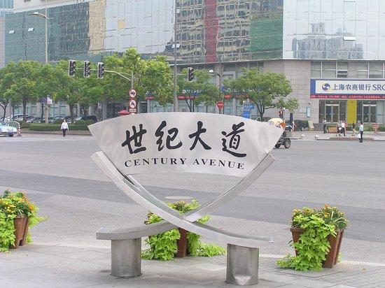 Pudong New Area: Указатель улицы