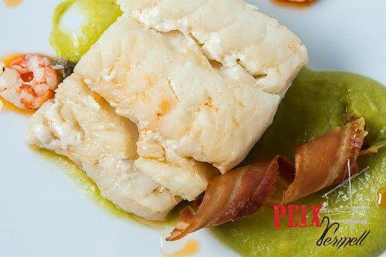 Restaurante Peix Vermell: Bacalao confitado