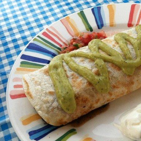 CAFE BAHIA: Delicious breakfast burrito - huge!!!