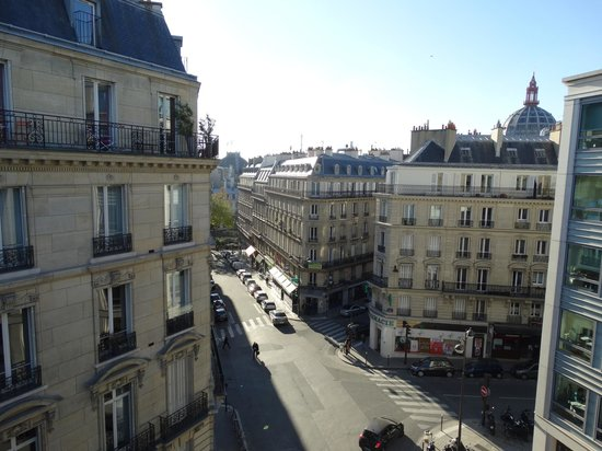 Hotel WO - Wilson Opera: View from front balcony Eiffel Tower much closer with naked eye (think camera aperture not helpi