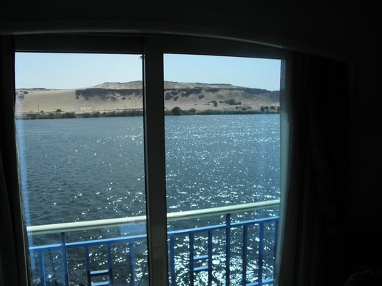 Egypt Guidelines Day Tours: Our view from our room on the Nile cruise