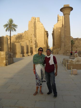 Egypt Guidelines Day Tours : Our guide Omar and I in Luxor