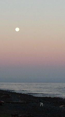 Good morning moon - Lanai at the Cove