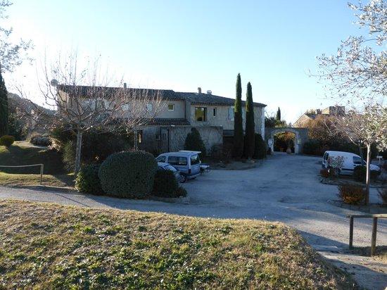 Auberge La Feniere: carpark and main hotel
